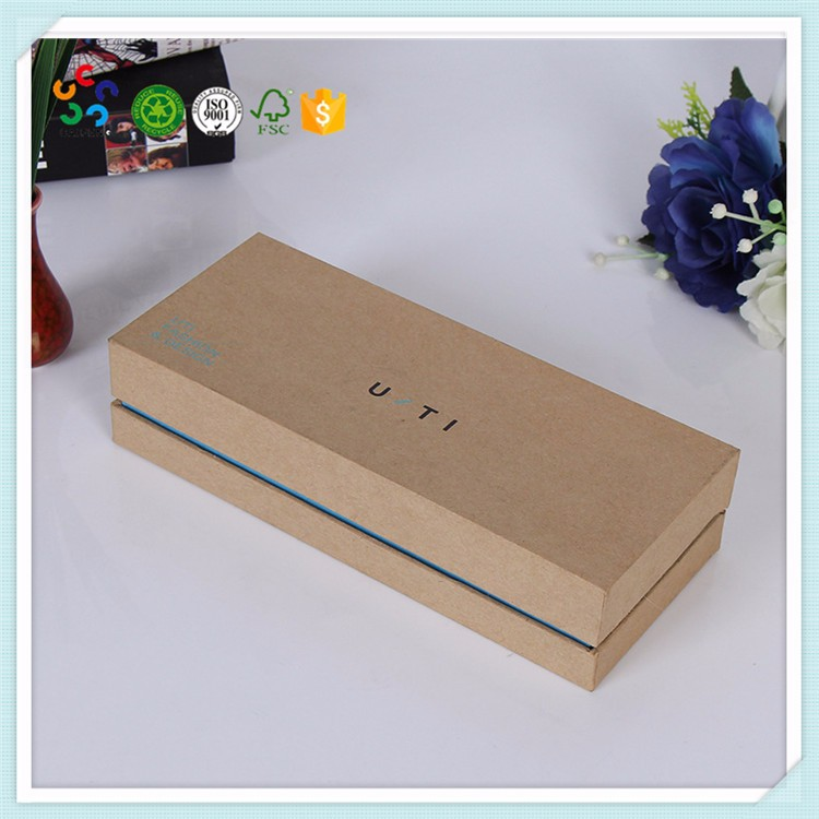 wholesale high quality brown lid and base kraft paper cardboard boxes for tie