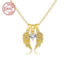 925 silver heart and wing necklace set gold necklace set designs