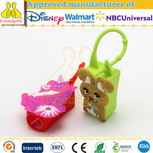 Cute 3d animal silicone hand sanitizer holder with pocketbac holders