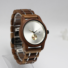 Luxury Men Watch China Watches With Wooden and Stainless Steel Chain Japanese Wrist Watch Brands