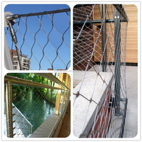High Tensile S.S. Ferrule Rope Mesh As Garden Fence