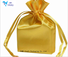round bottom drawstring gift bag gold bag satin ribbon bags