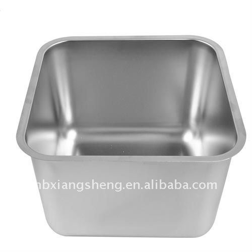 single bowl stainless steel industrial sink