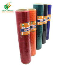 LLDPE Plastic colored pallet packaging wrap stretch film with low price