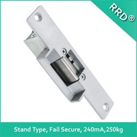 2015 new electronic products electric strike for wood door 12V use with mortise lock cylinder lock and lever lock