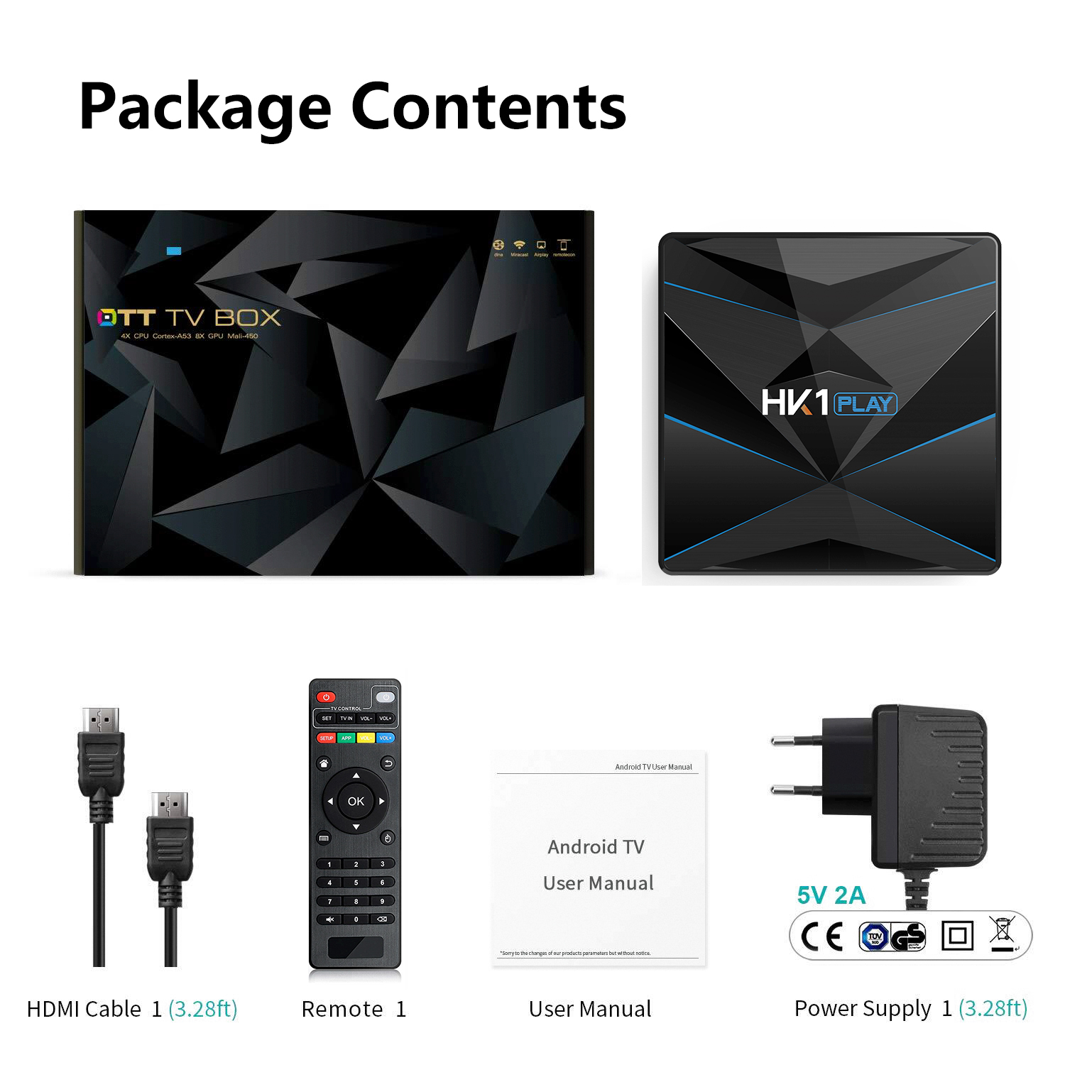 HK1 PLAY Android 9.0 TV Box 4k Dual Wifi with BT Android TV Box 4GB Ram 32GB Rom
