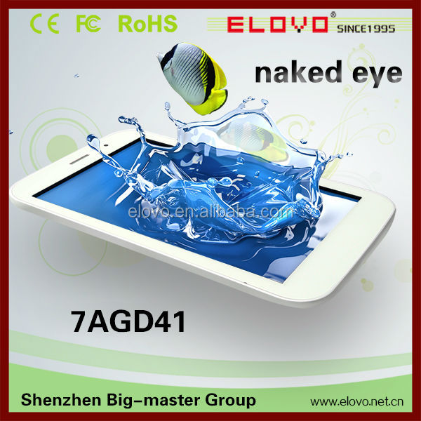 "In stock 7"" NAKED-EYE 3D Tablet PC Quad Core A31S 1080p Full HD IPS Screen Android 4.2.2 1G/8G bluetooth HDMI 3G WIFI tablet"