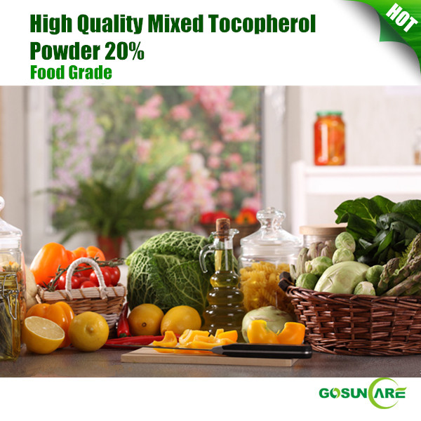High Quality Mixed Tocopherol/ Natural Vitamin E Powder 20%