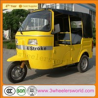 Three wheel motorcycle bajaj tuk tuk taxi for hot sale