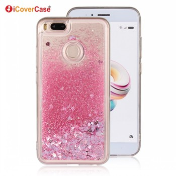 Glitter Liquid Smartphone Back Cover Soft Quicksand Silicone TPU For Xiaomi Mi A1 Mi 5X Case