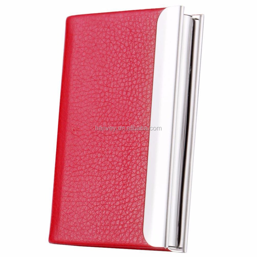 HOT!slim business card holder good looking PU leather card case