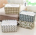 Foldable Cotton Storage Basket Bin Box With Handles Soft Durable Home Decorations