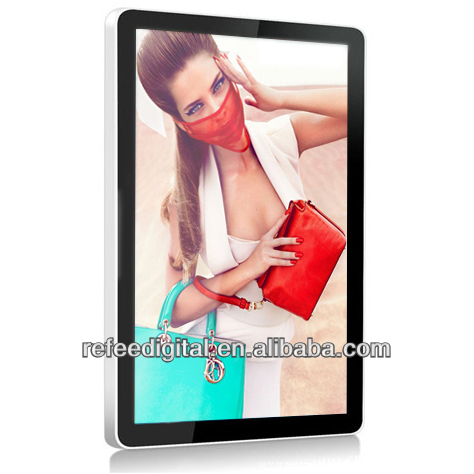 Excellent supplier for 22inch wall mounted LCD advertising player,touch screen,Split sreen,WIFI optional