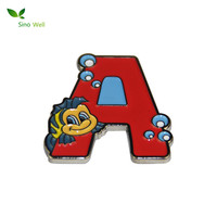 Custom Filling Color Enamel metal badge pin with high quality