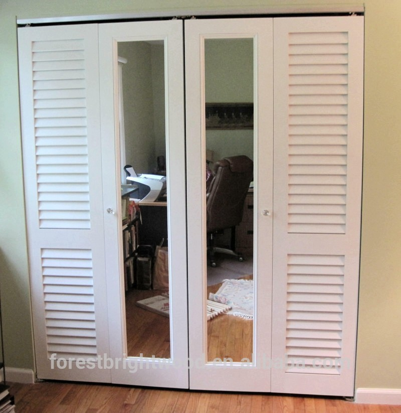 Gallery louvered sliding closet doors with mirrors buy for Custom made internal bifold doors