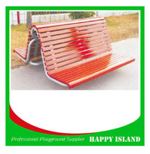 attractive design park bench Chinese manufacturer Double Wood Chair Double Side Leisure Bench Wooden Double Seat Bench