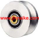 Solid iron Q235 Steel V-Groove Wheel/pulley steel manufacturer