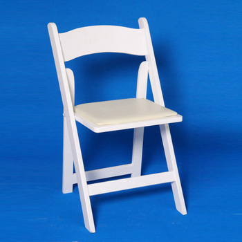 White Color Wooden Folding Commercial Wedding Garden Chairs
