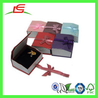 J456 Alibaba China Wholesale Luxury Cardboard Magnetic Jewelry Box with Ribbon