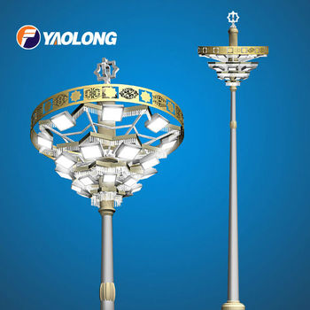Stainless steel high lighting poles