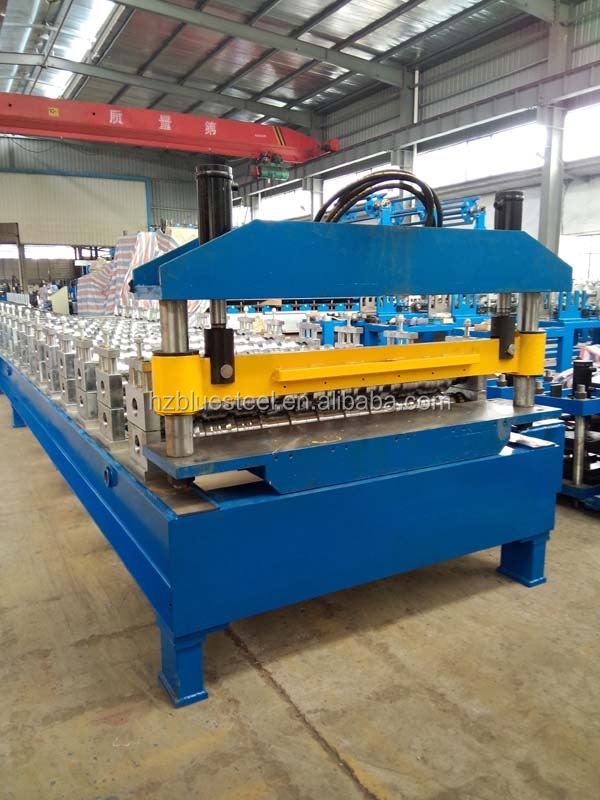Automatic PPGI Steel Metal Trapezoidal Roofing Sheet Rolling Forming Machine