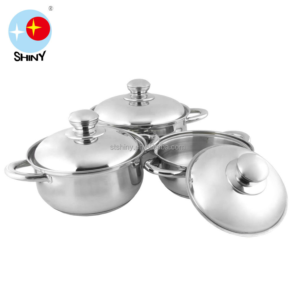 Stainless Steel Capsule Bottom Steel Handle Casserole Cookware Set