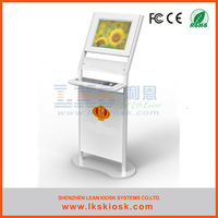 LKS Free-standing 17' Information kiosk monitor with keyboard