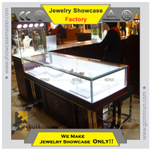 Popular 2015 jewelry showcases show case kiosk for jewelry interior decoration