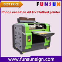 2016 new DX5 head flatbed printer A3 size UV LED printing machine