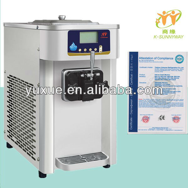 2014 New Design soft ice cream machine frozen yogurt machine sorbet machine Soft Serve Small home and commercial use RB 1116 A