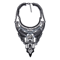 Accessories For Women Black Metal Necklace