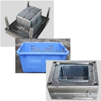 Cost price custom collapsible crate box mould