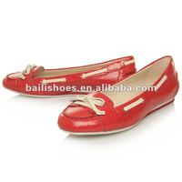 2012 ladies leather flat shoes