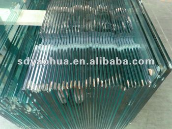 3-19mm for shower doors heat soaked high quality glass