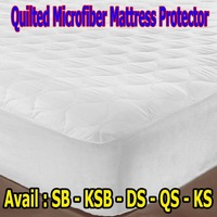 Fitted & Quilted Microfiber Mattress Protector