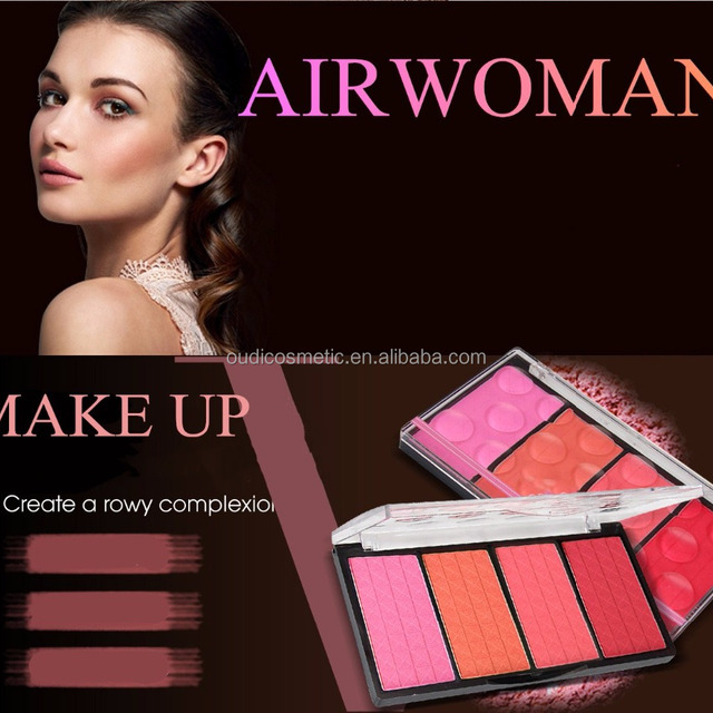 factory 4 colors blusher and shading powder private label cosmetic beauty blush for woman