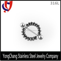 Easy fixed 16G nipple ring pierced personalized nipple stainless ring