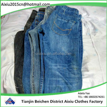 second hand fashion men jean pants in bales used clothing