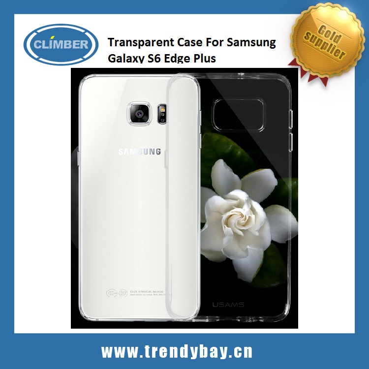 USAMS brand TPU+PC Transparent Case For Samsung Galaxy S6 Edge Plus Cover