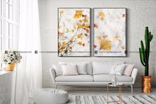 Autumn subject silk fabric painting decorative pictures beautiful scenery wall painting