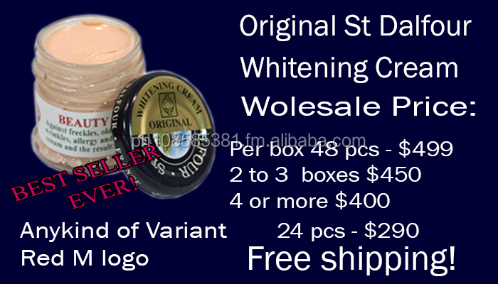St Dalfour Beauty Whitening Cream STEAMED VARIANT OILY $455 PER BOX free shipping