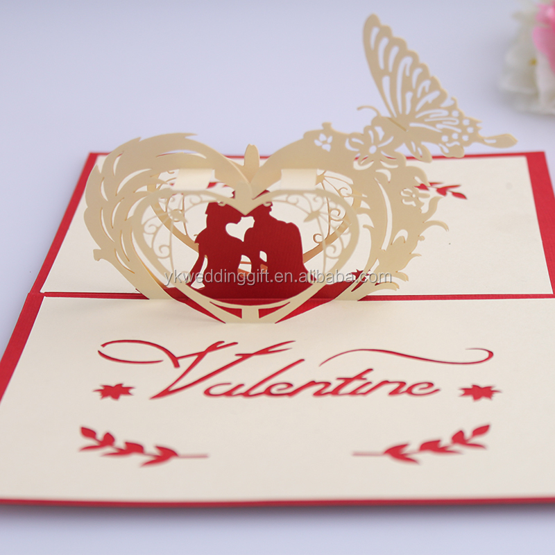 Neues Jahr Fancy 3d Pop Up Wedding Gruß Invitaton Karten