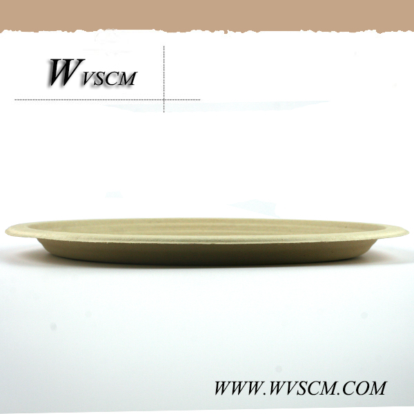 compostable wheat straw fiber microwave pizza tray