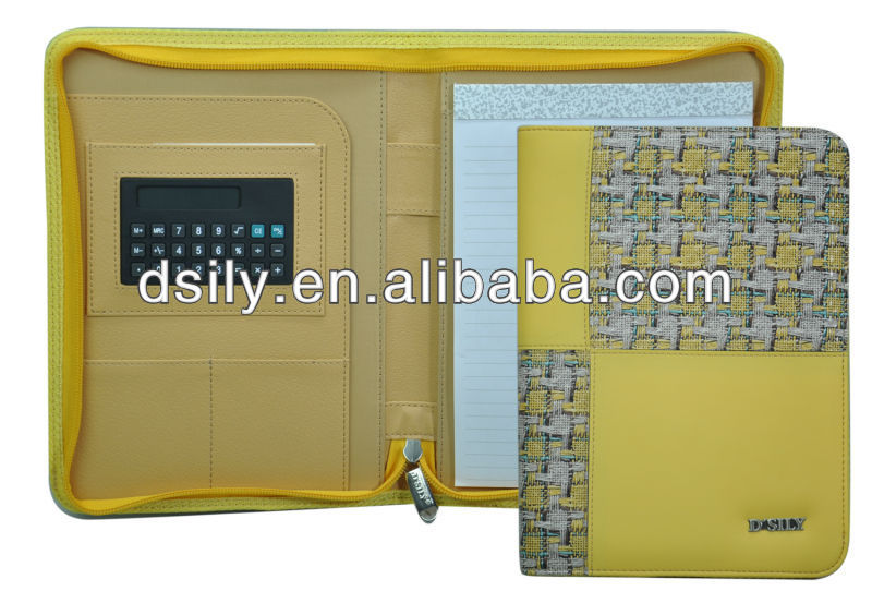 Fashion Folio, PVC Conference Zip Folder,S013S120026