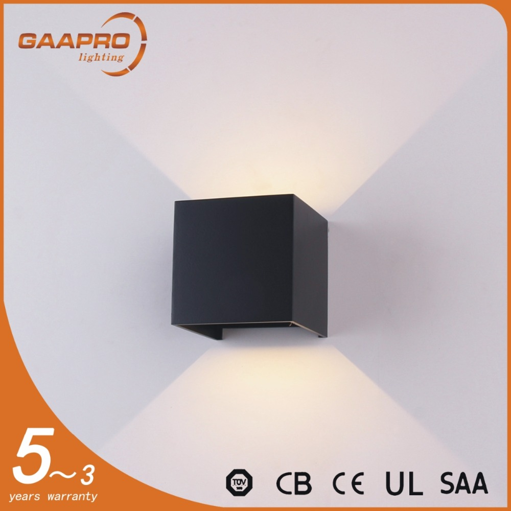 6W IP 65 Outdoor Waterproof Surface Mounted LED Cube wall Light