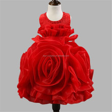 Wholesale New Arrival Rose Flower Dress Princess Dress For Wedding/ Party/Birthday costume