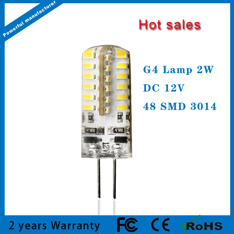 LED G4 Lamp Bulb SMD3014 DC 12V 2W LED Lights replace 20W Halogen G4 for Lighting Spotlight Chandelier