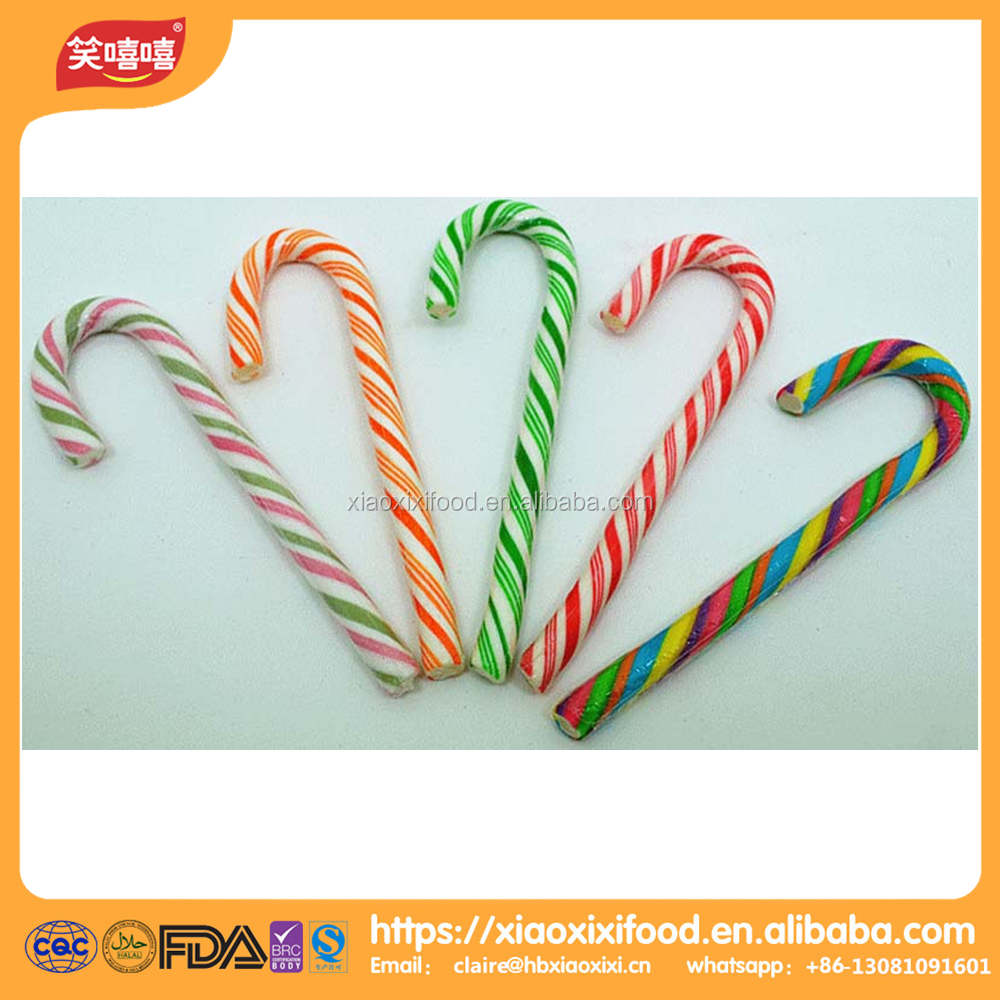 Christmas candy cane tube candy cane wholesale candy