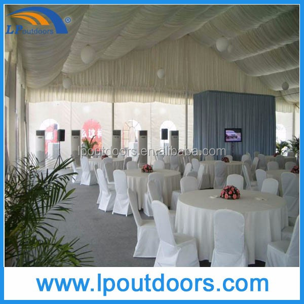 luxury wedding party marquee tent with beautiful decoration