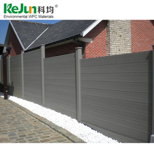Cheap wpc fence easily assembled decorative wood plastic composite garden fence